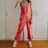 Juicy Denim Overalls (Watermelon Red)