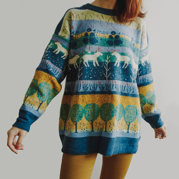 Fair Isle Moose Sweater (2 Colors)
