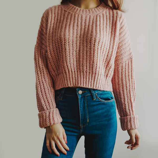 Cropped Knit Sweater (4 Colors)