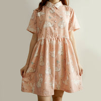 Sweet Bunny Babydoll Dress (Pink)