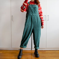 Corduroy Overalls (Forest Green)