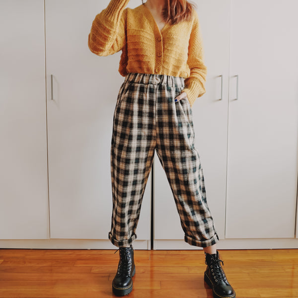 Fall Tapered Plaid Pants (2 Colors)