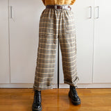 Light Academia Plaid Pants (Khaki)
