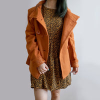 Double Breasted Wool Coat (Burnt Orange)