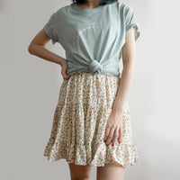 Ditsy Floral Tiered Skirt (7 Colors)