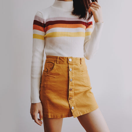 Sunset Stripe Mock Neck Sweater (3 Colors)