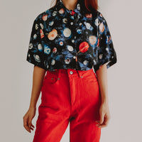 Outer Space Planet Shirt (Black)