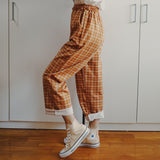 Plaid Pants (Orange)