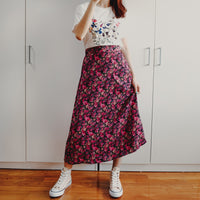 Floral Midi Skirt (2 Colors)