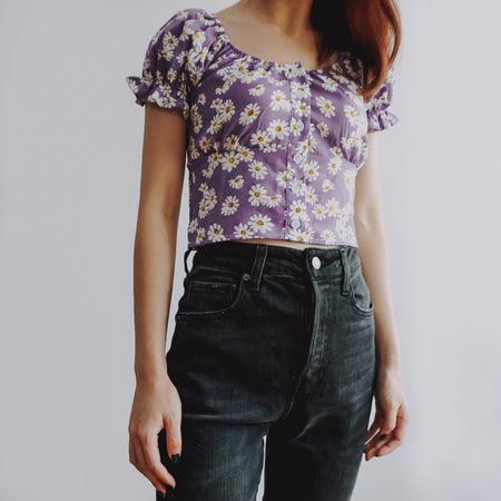 Puffy Daisy Crop Top (3 Colors)