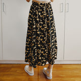 Rose Midi Skirt (Yellow/Black)