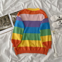 Fruity Rainbow Stripe Sweater (Multicolor)