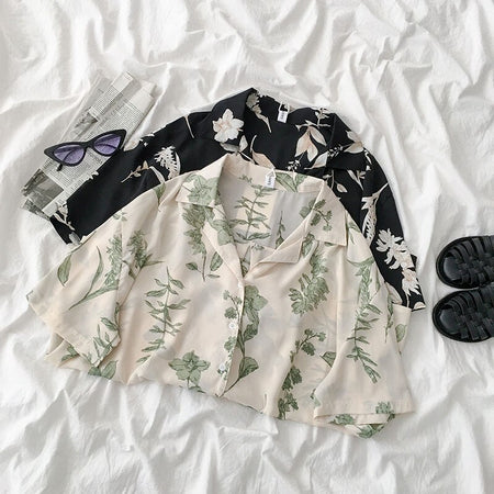 Botanical Plant Button Up Shirt (2 Colors)