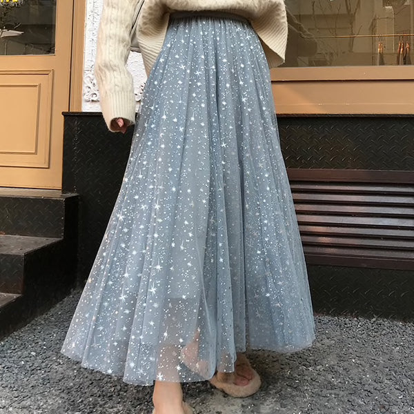 Twinkle Star Tulle Skirt (4 Colors)
