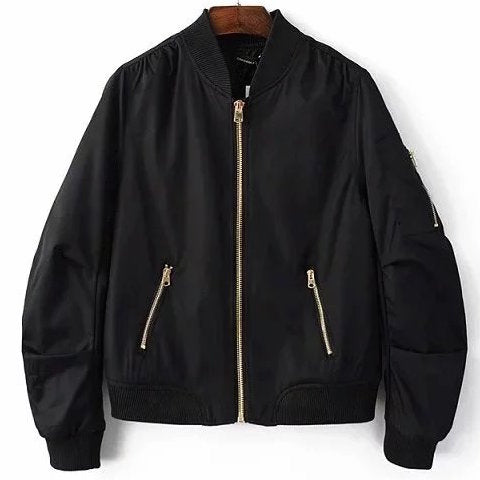 Zipper Bomber Jacket (4 Colors)