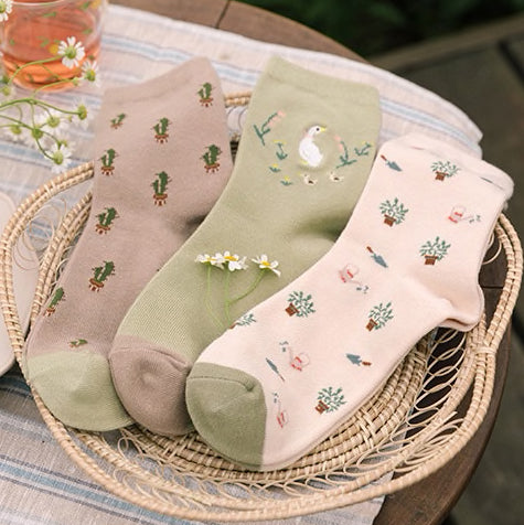 Duck Garden Sock Set (Green)