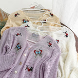 Butterfly Open Knit Cardigan (3 Colors)