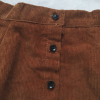 Corduroy Button Up Skirt (3 Colors)