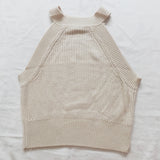 Sweater Knit Halter Crop Top (7 Colors)