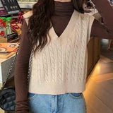 Braided Knit Sweater Vest (6 Colors)