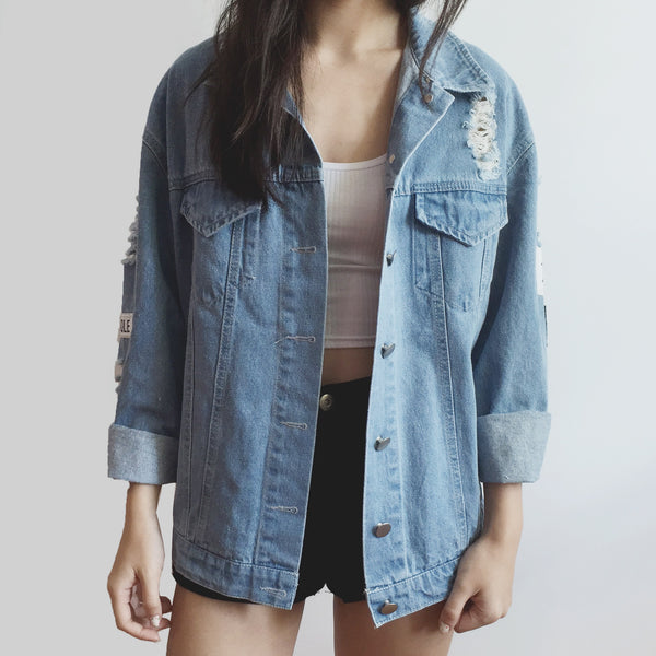 Where Is My Mind Denim Jacket (Light Blue)