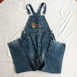 Vintage Chasing Bumblebees Pooh Overalls (Medium Blue)