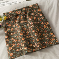 Ditsy Floral Corduroy Mini Skirt (4 Colors)