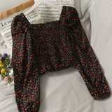 Ditsy Floral Puffy Sleeve Top (6 Colors)