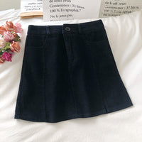 Corduroy Slit Skirt (4 Colors)