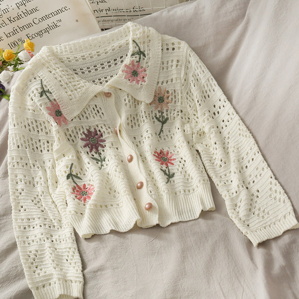 Crochet Daisy Cropped Cardigan (3 Colors)