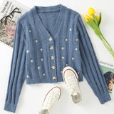 Embroidered Daisy Cardigan (2 Colors)