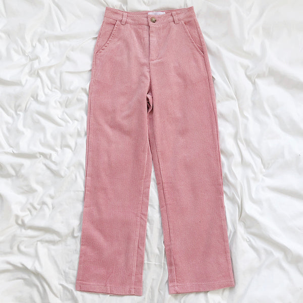 Corduroy Straight Leg Jeans (2 Colors)