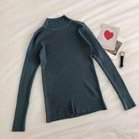 Basic Mock Neck Sweater (14 Colors)