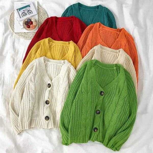 Cable Knit Cardigan (6 Colors)