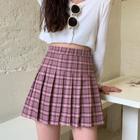 Tartan Plaid Tennis Skirt (6 Colors)