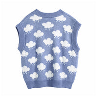Cloud Sweater Vest (Blue)