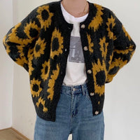 Sunflower Cardigan (Black/Yellow)