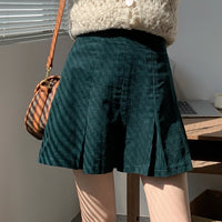 Corduroy Pleated Skirt (2 Colors)