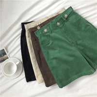 Corduroy Boyfriend Shorts (4 Colors)
