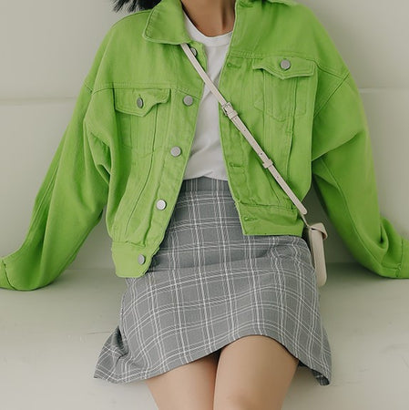 Fruity Denim Jacket (2 Colors)