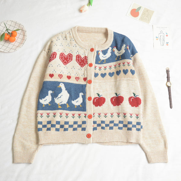 Apple Picking Cardigan (Off White)