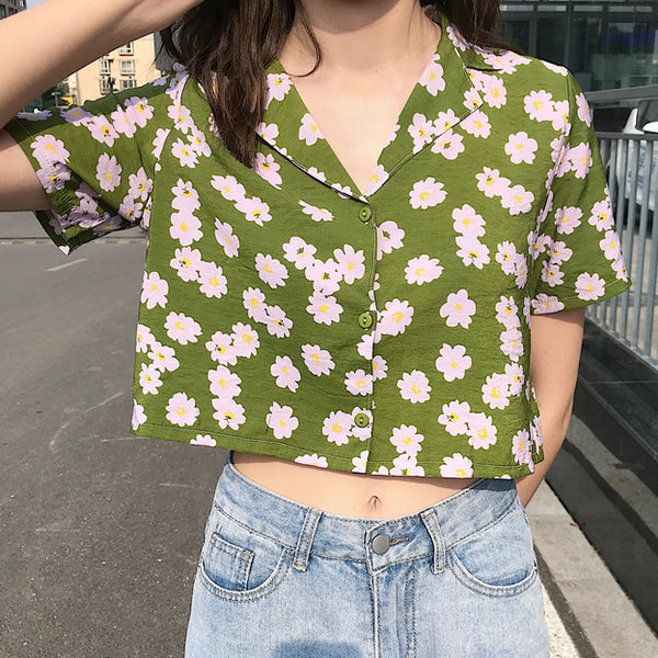 Cropped Daisy Shirt (3 Colors)