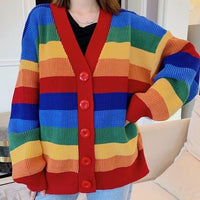 Rainbow Knitted Cardigan (Multicolor)