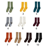 Ribbed Crew Length Socks (10 Colors)