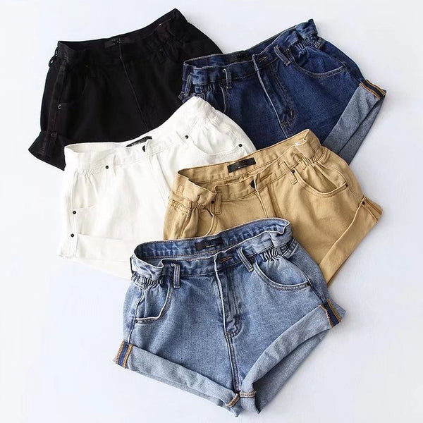 Paperbag High Waist Denim Shorts (5 Colors)