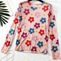 Funky Flower Mesh Shirt (2 Colors)