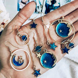Planet Moon Star Earrings (8 Styles)
