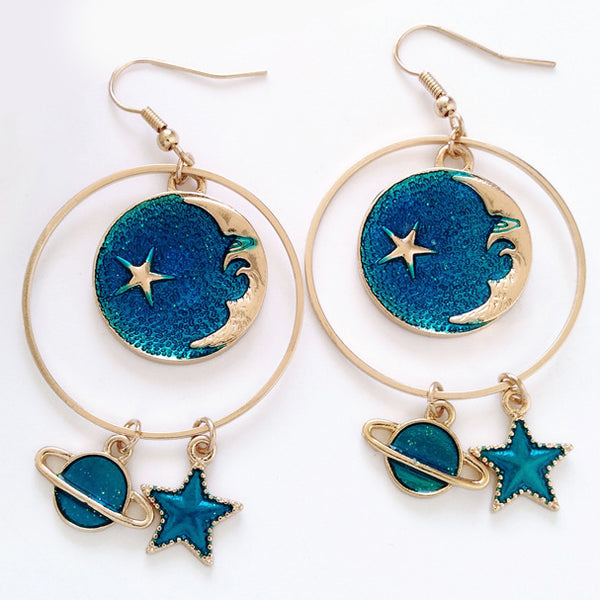 Galaxy Hoop Earrings (3 Colors)