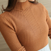 Ribbed Mock Neck Sweater (5 Colors)