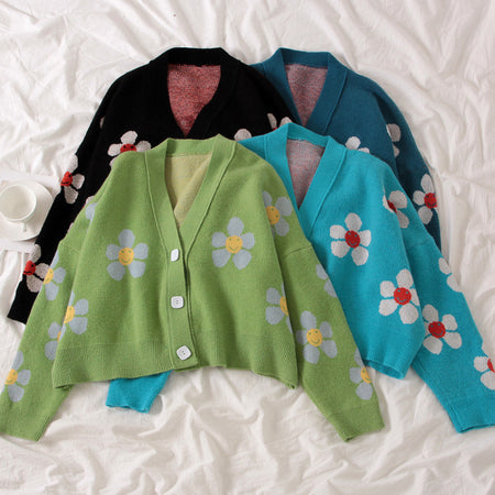 Cropped Daisy Cardigan (4 Colors)